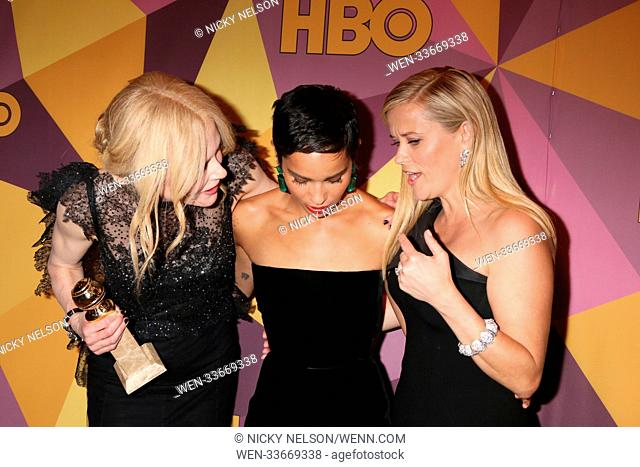 HBO Post Golden Globe Party 2018 at Beverly Hilton Hotel on January 7, 2018 in Beverly Hills, CA Featuring: Nicole Kidman, Zoe Kraviitz