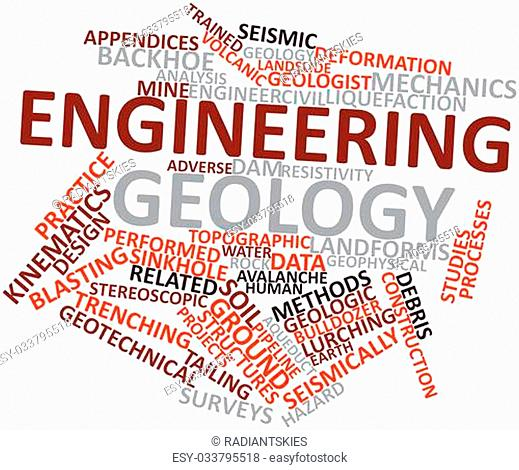 Abstract word cloud for Engineering geology with related tags and terms