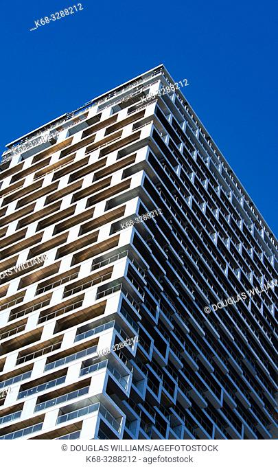 Vancouver House, a new tower in downtown Vancouver, BC, Canada, designed by BIG, Bjarke Ingels Group architects