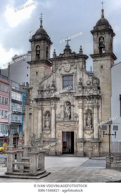 San Jorge Church, A Coruna, Galicia, Spain