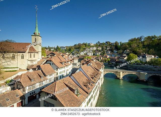 Morning in Bern, Switzerland. A view from Nydegg bridge
