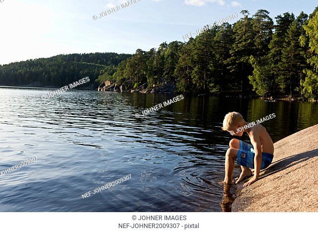 Boy at water