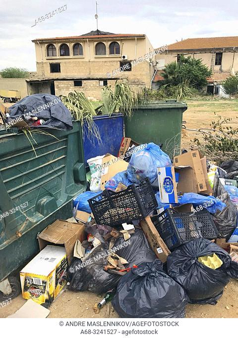 Garbage in Nicosia, Cyprus