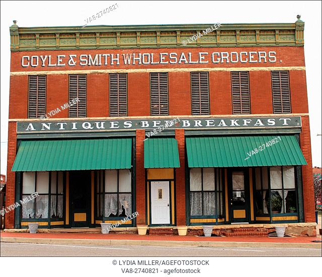 This charming old brick building can be found in Guthrie, Oklahoma, USA