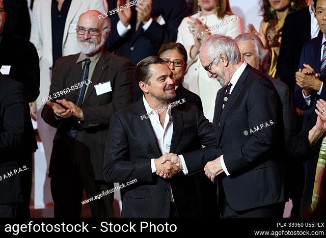 Oscar® nominees Leonardo DiCaprio and Jonathan Pryce at the Oscar Nominee Luncheon held at the Ray Dolby Ballroom, Monday, January 27, 2020
