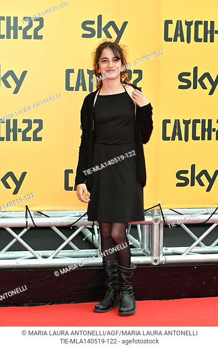 Viola Pizzetti during the Red carpet for the Premiere of film tv Catch-22, Rome, ITALY-13-05-2019