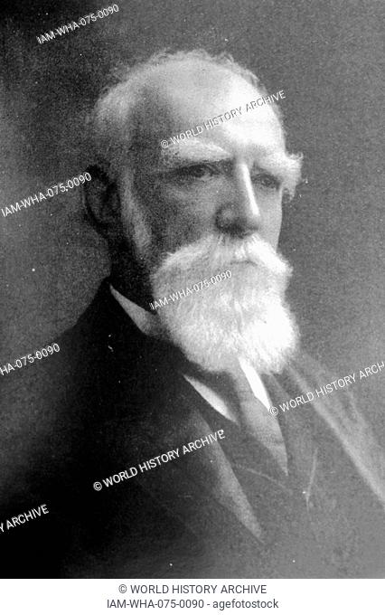 Photographic portrait of Donald Smith, 1st Baron Strathcona and Mount Royal (1820-1914) Scottish-born Canadian who became one of the British Empire's foremost...