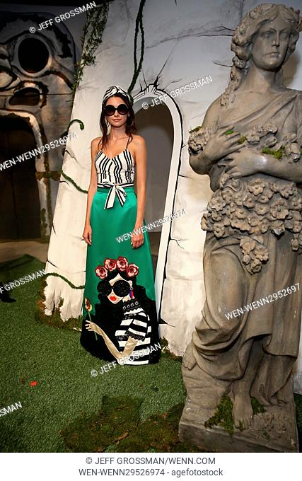 New York Fashion Week Spring/Summer 2017 - Alice + Olivia by Stacey Bendet presentation Featuring: Model Where: New York, New York