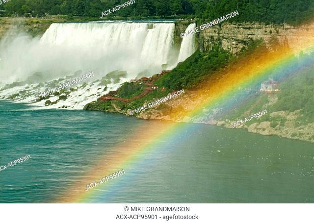 Rainbow and Niagara Falls Niagara Falls Ontario Canada