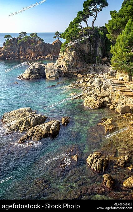 Europe, Spain, Catalonia, Costa Brava, Playa Cala de los Arrecifes