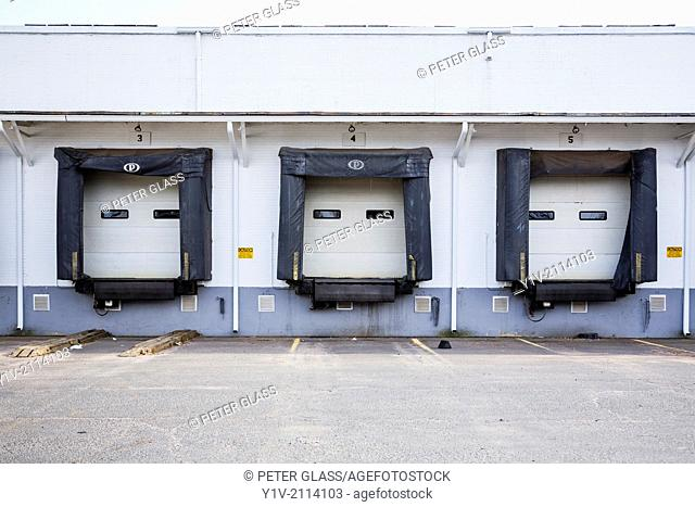 Loading bays for trucks