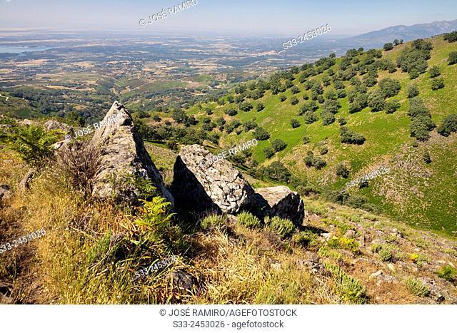 Vera region from The Serrana in the Sierra de Gredos. Avila. Castilla Leon. Spain. Europe