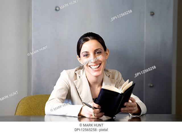 Portrait of a business woman smiling