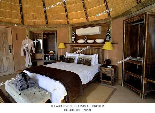 Luxury chalet of Camp Kipwe near Twyfelfontein, Damaraland, Namibia