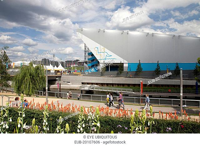 Stratford Olympic Park View of the Water Polo Arena