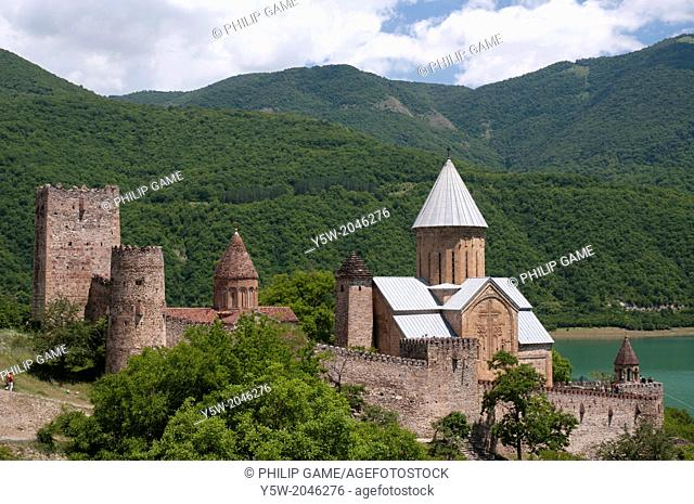 Fortified monastery at Ananuri, north of the Georgian capital of Tbilisi
