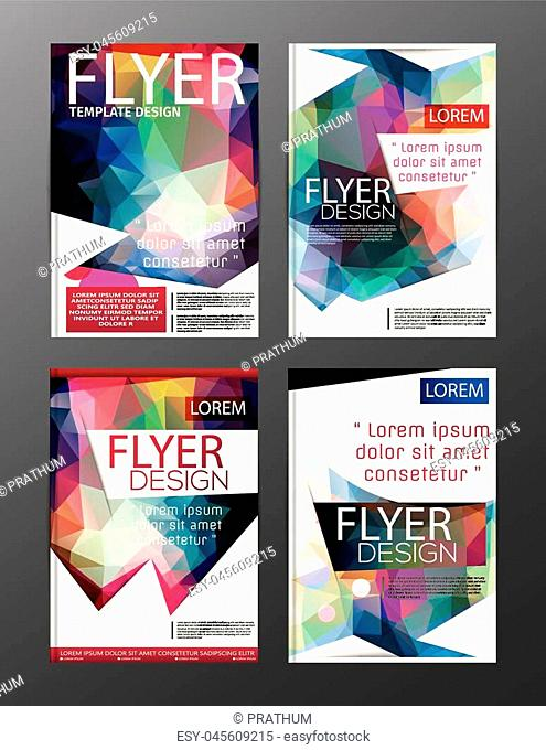 Layout design template Annual Report Flyer Leaflet Modern background. illustration vector polygon