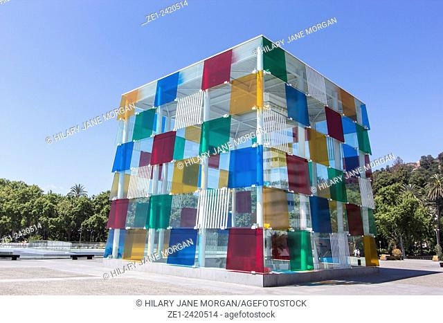 "The Pompidou Art Centre, Muelle Uno, Malaga Port, Costa del Sol, Spain. The """"Cube"""", opened March 28th, 2015"