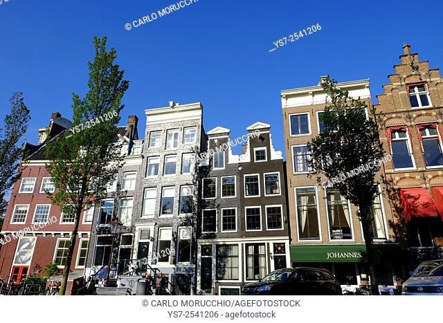 Typical houses in Amsterdam, The Netherlands, Europe