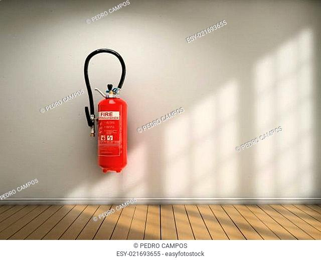 Extinguisher on wall