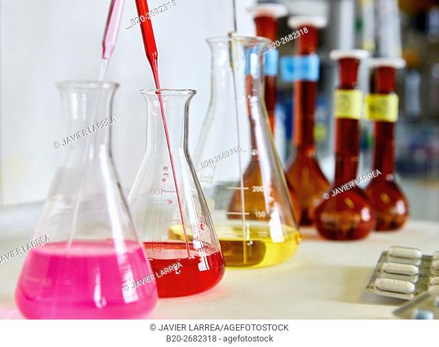Pharmaceutical Development Laboratory. Pre-formulation, design and development of drugs and new pharmaceuticals. Certified with Good Laboratory Practices (GPL)