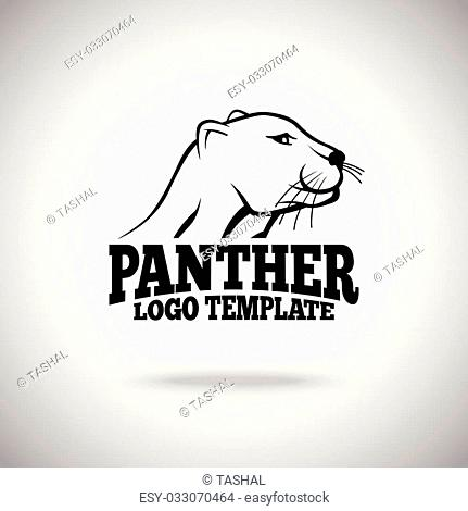 Vector logo template with Panther, for sport teams, brands etc