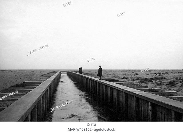 Europe, Italy, Calabria, Gulf of Lamezia, land reclamation near Francavilla Angitola, 1930-40