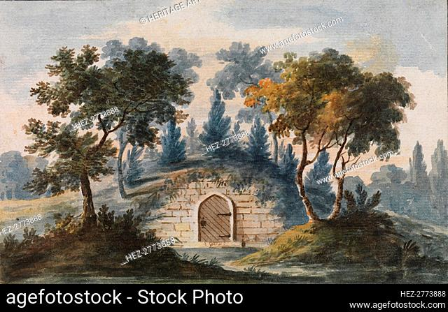 General Washington's Tomb at Mount Vernon (Copy after Engraving in The Port Folio.., 1811-ca.1813. Creator: Pavel Petrovic Svin'in