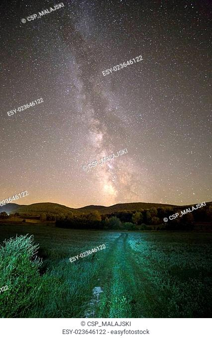 Milky way and green way
