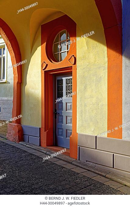 Town house gate, the north gate, 14th century, front door, detail, Kirchheimbolanden Germany