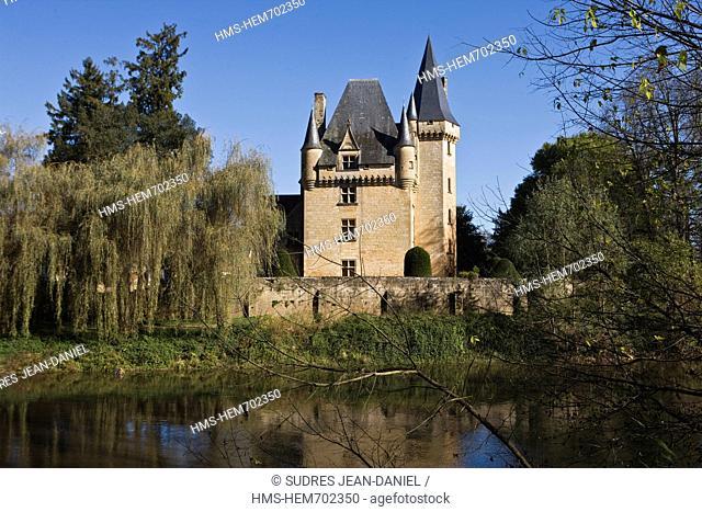 France, Dordogne, Valley of the Vezere, Perigord Black, Saint Le on sur Vezere, Castle Cle rans