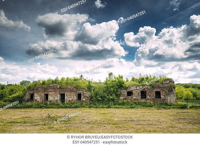 Brest, Belarus. Ruins Of The Bernardine Monastery In Brest In Sunny Summer Day