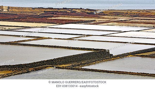 Salinas de Janubio, Lanzarote, Canary Islands, Spain