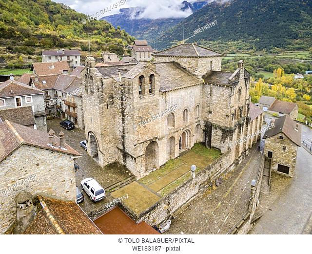 Monastery of San Pedro de Siresa, Romanesque, 9th-13th century, Siresa, Valley of Hecho, western valleys, Pyrenean mountain range, province of Huesca, Aragon