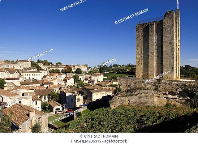 France, Gironde, Saint Emilion, listed as World Heritage by UNESCO, Tour du Roy