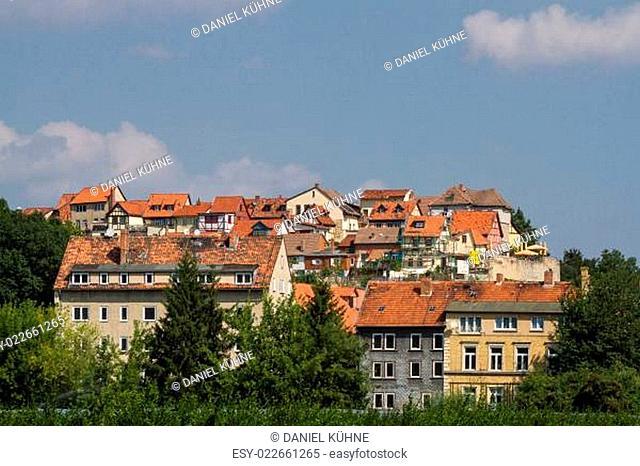 Blick auf den Münzenberg Quedlinburg