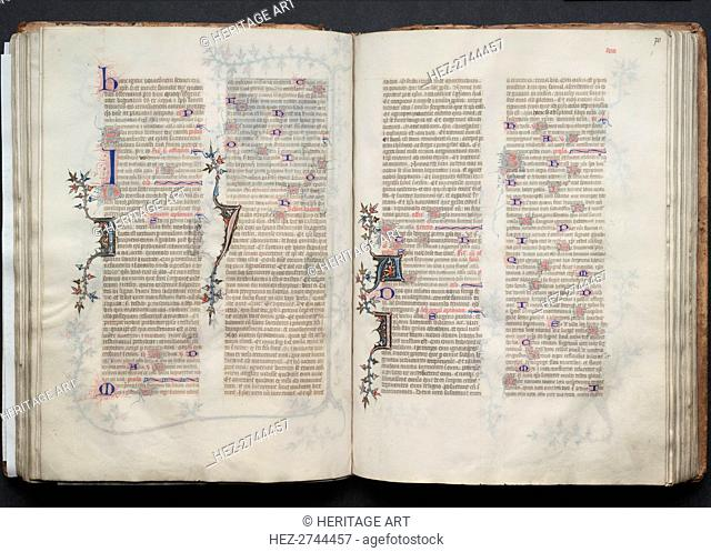 The Gotha Missal: Fol. 69v, Text, c. 1375. Creator: Master of the Boqueteaux (French); Workshop, and