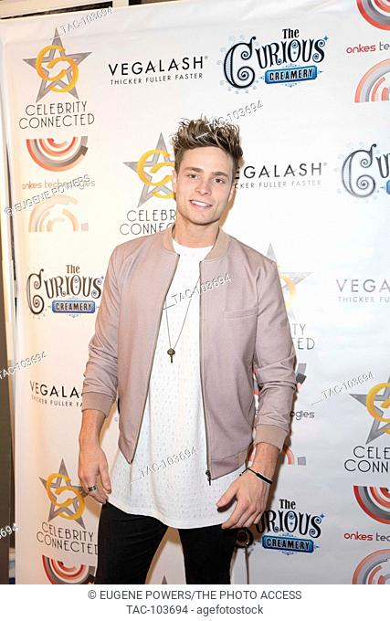 Spencer Sutherland arrives at Celebrity Connected 2016 Luxury Gifting Suite red carpet Honoring The Emmys® at the W Hotel Hollywood on September 17