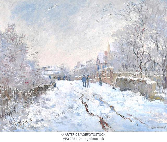 Claude Monet. Snow scene at Argenteuil . 1875. National Gallery London