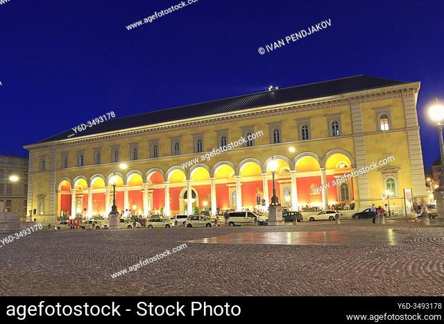Max Joseph Platz at Night, Munich, Germany