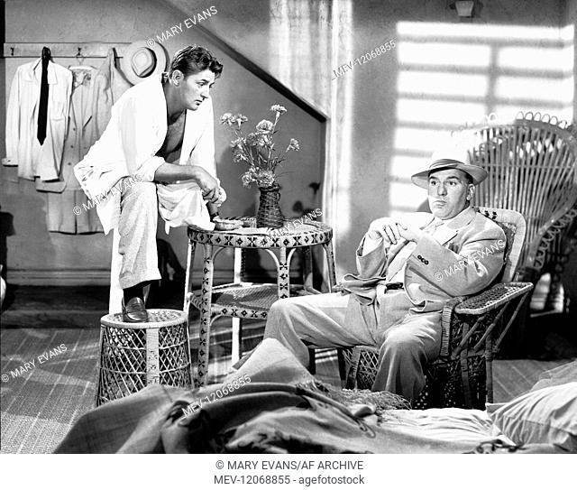 Robert Mitchum & William Bendix Characters: Nick Cochran, Lawrence C. Trumble Film: Macao (USA 1952) Director: Josef Von Sternberg 11 April 1952