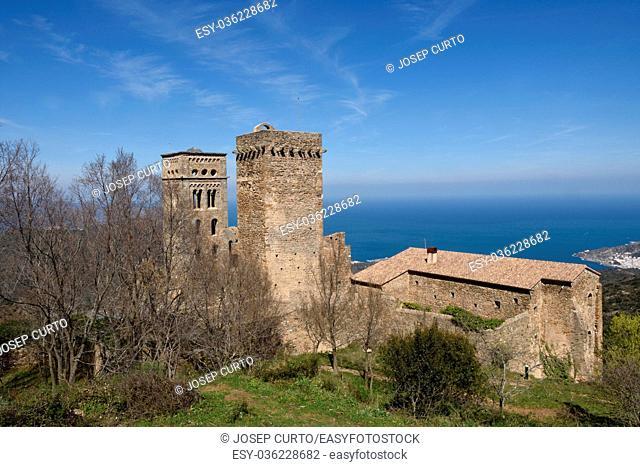 Benedictine monastery of Sant Pere de Rodes, Girona province, Catalonia, Spain