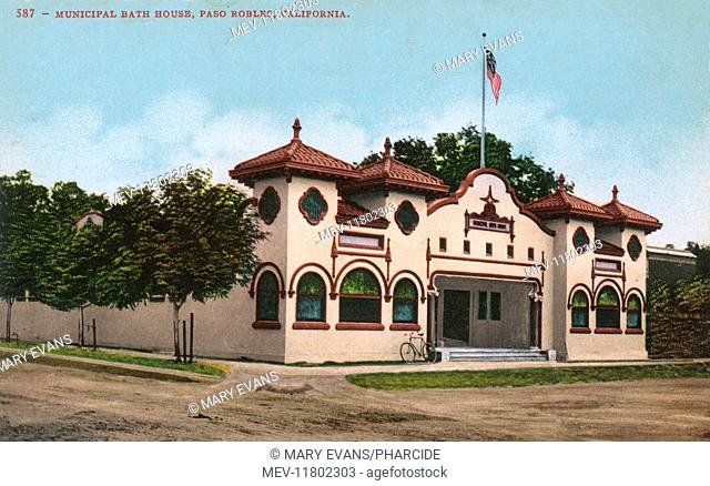 Municipal Bath House, Paso Robles, San Luis Obispo County, California, USA