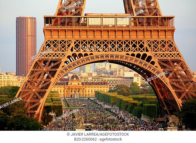 Champ de mars. Eiffel tower. Paris. France