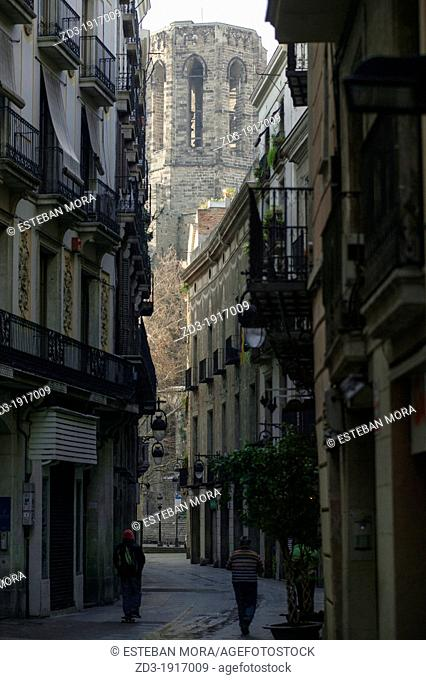 Pi church in gothic quarter of Barcelona, Spain