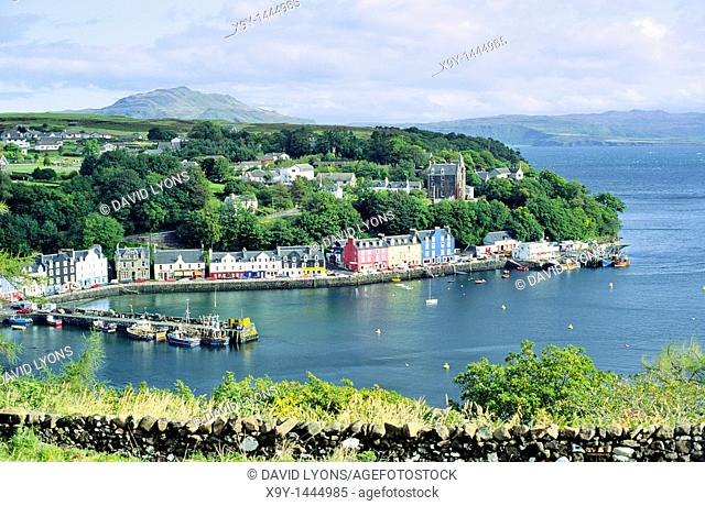 Isle of Mull, Scotland, UK  Main island town and fishing harbour of Tobermory