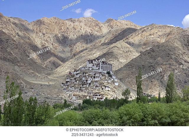 Chemrey Monastery or Chemrey Gompa is a 1664 Buddhist monastery, Jammu and Kashmir, India