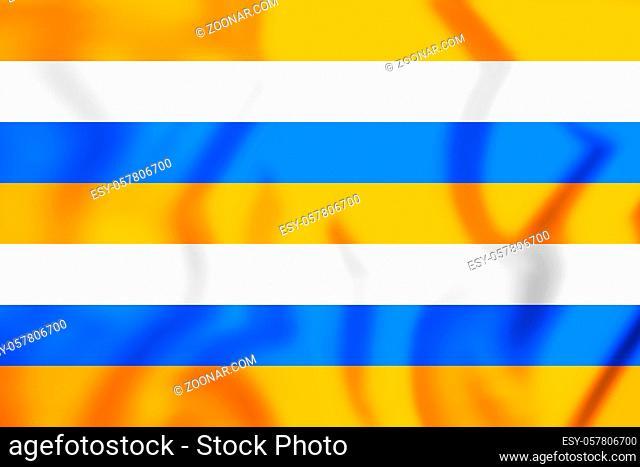 3D Prince's Flag. 3D Illustration