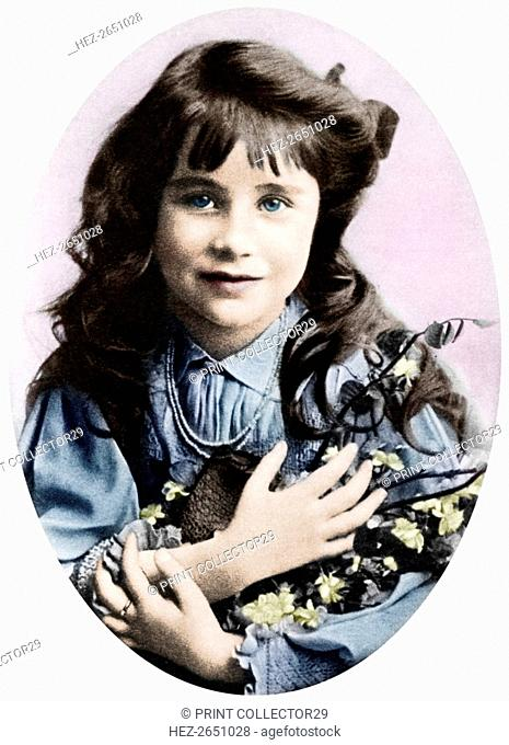 The Queen Mother at seven years old, 1907 (1937). Artist: Unknown