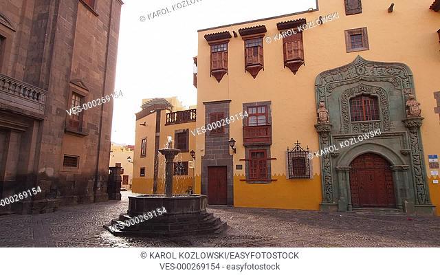 Casa de Colon – Columbus House in Vegueta District of Las Palmas de Gran Canaria, Canary Islands, Spain